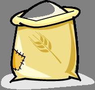 Wheat flour = 495 calories